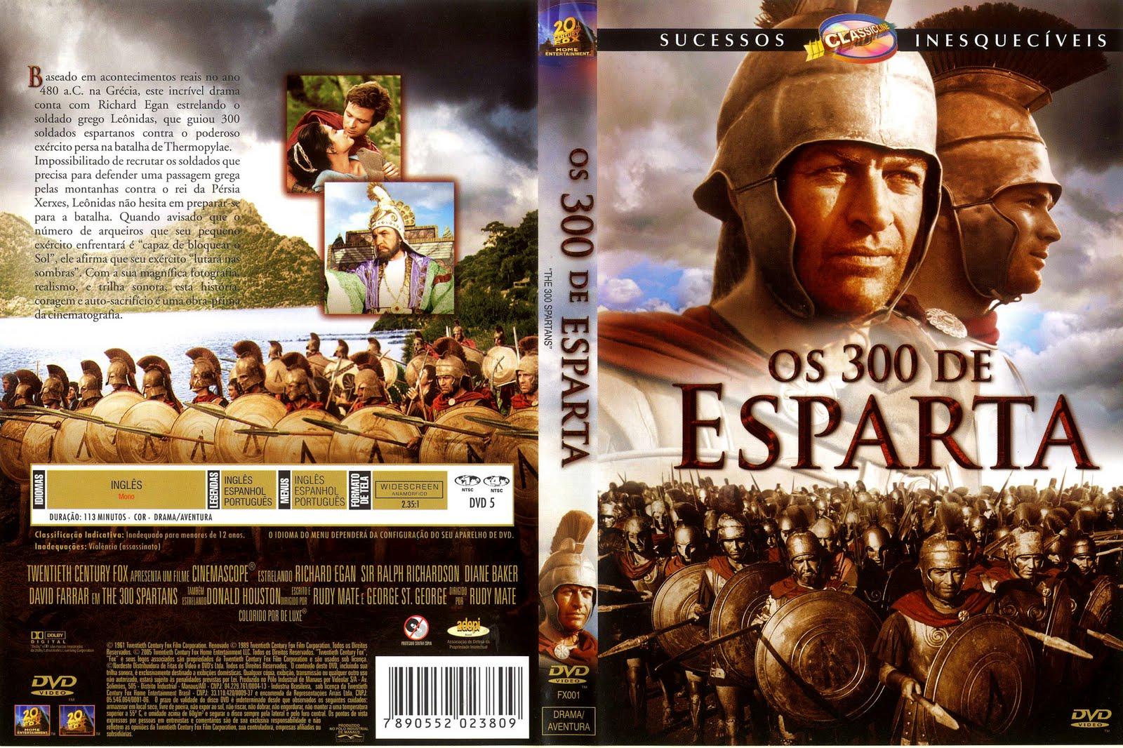 os 300 de esparta 1962 dublado