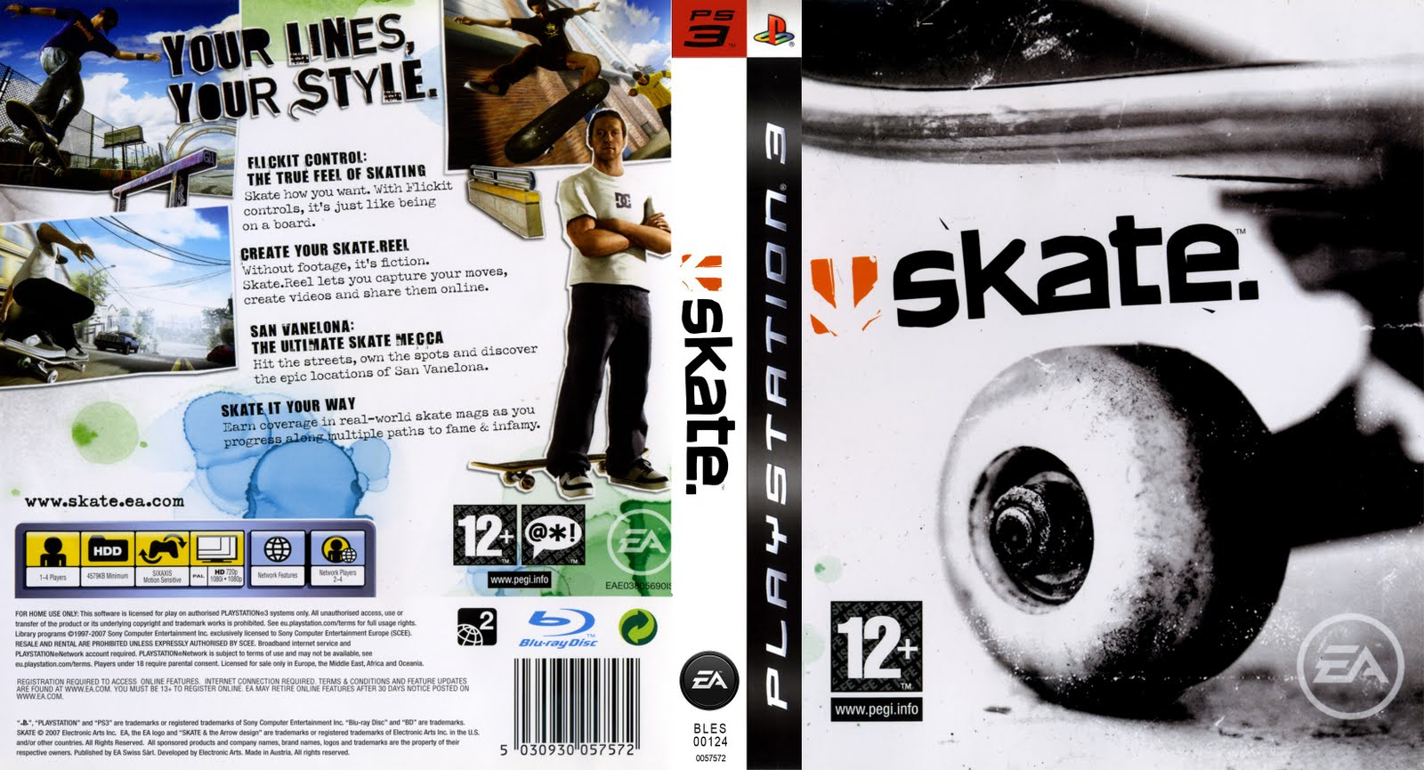 Skate Ps3 Cover Related Keywords & Suggestions - Skate Ps3