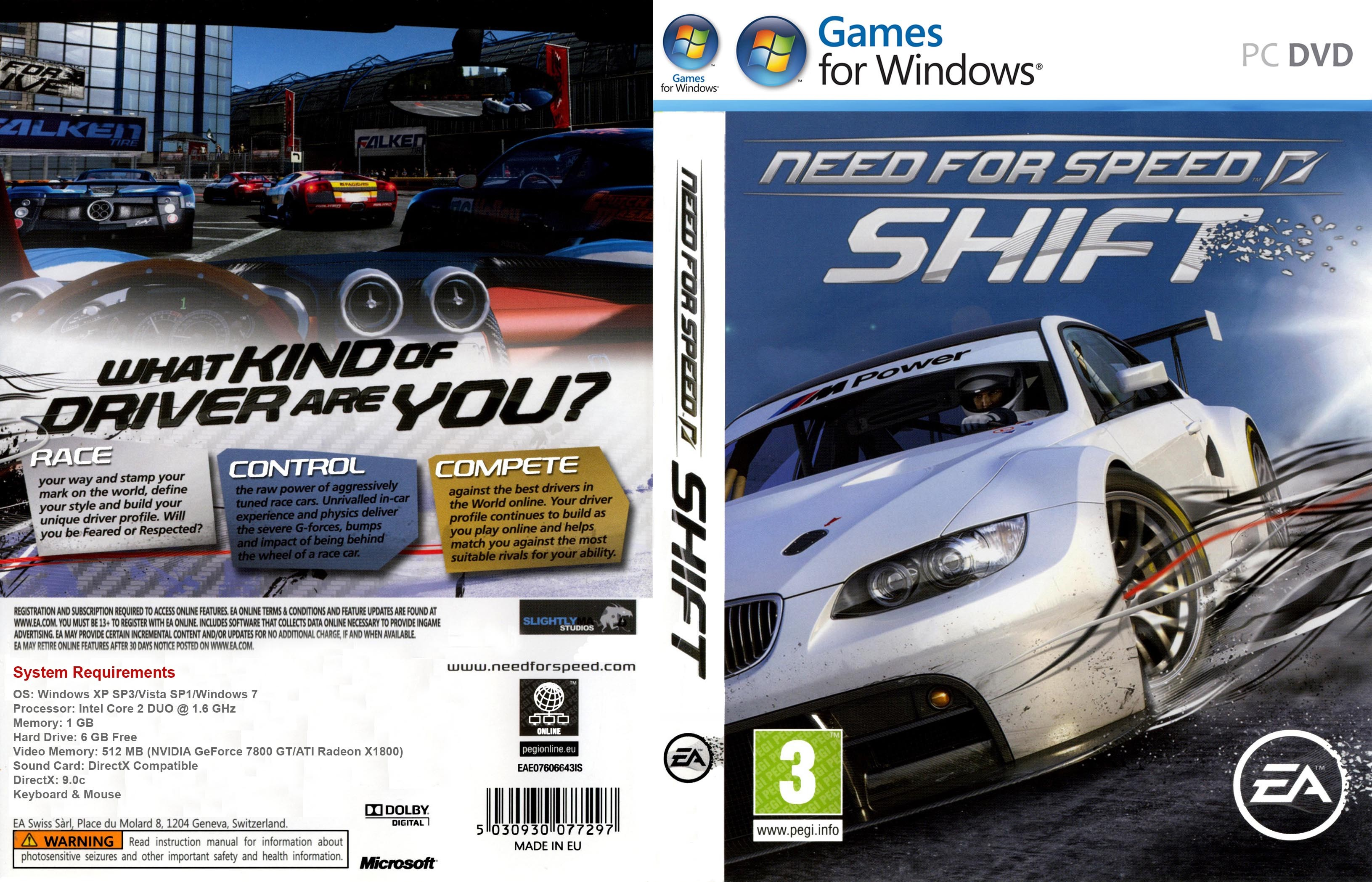 pc need for speed shift capas e covers gratis. Black Bedroom Furniture Sets. Home Design Ideas