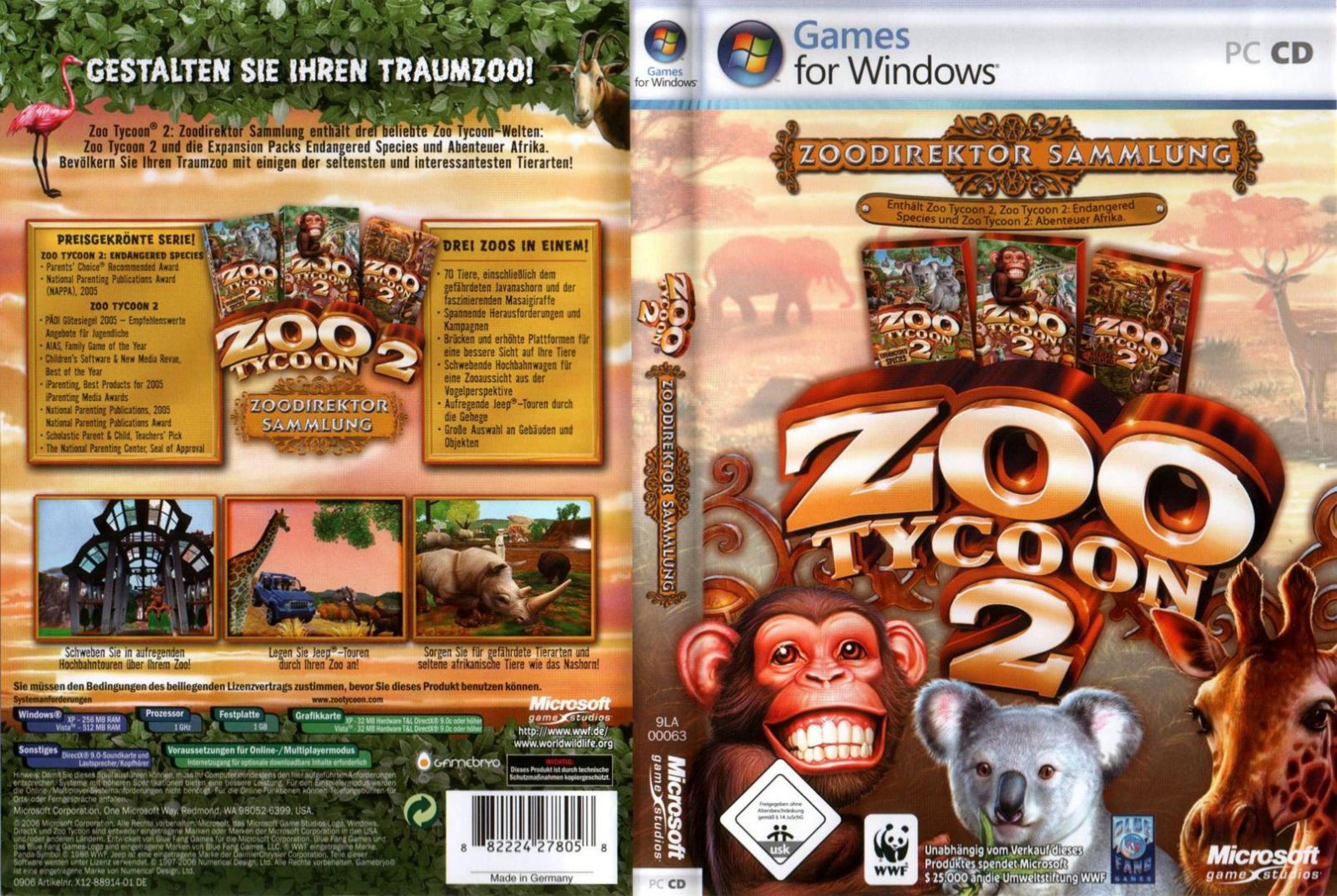 zoo tycoon 2 pc: