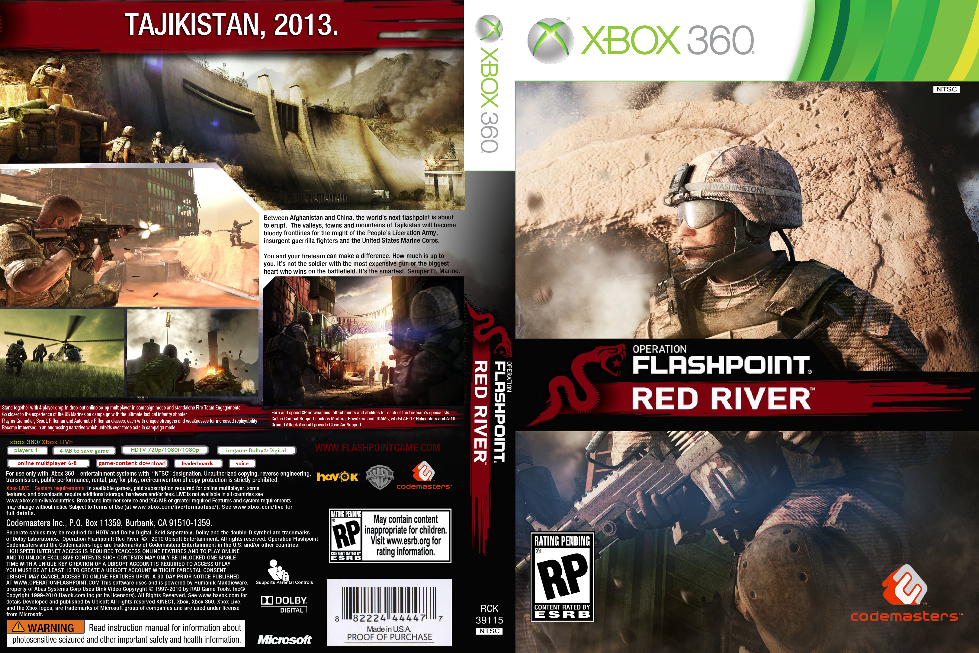 XBox 360 ? Operation Flashpoint ? Red River