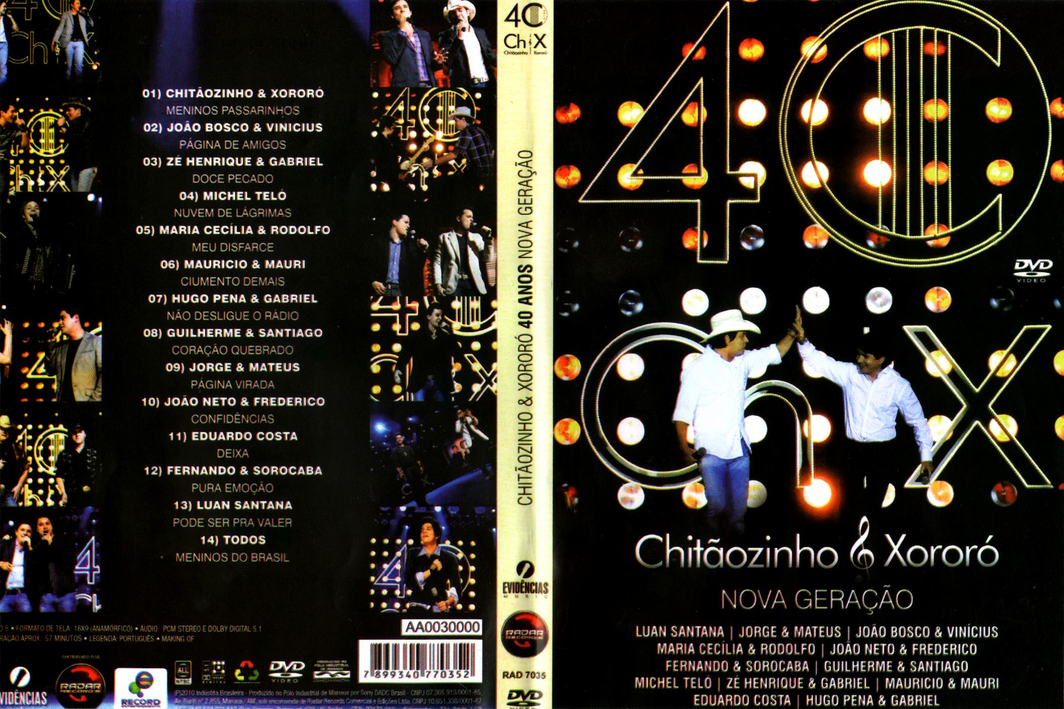 audio dvd chitaozinho e xororo 40 anos nova gerao
